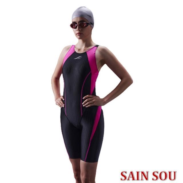【SAIN SOU 聖手牌】競賽型泳裝加贈矽膠泳帽(A972101-01)
