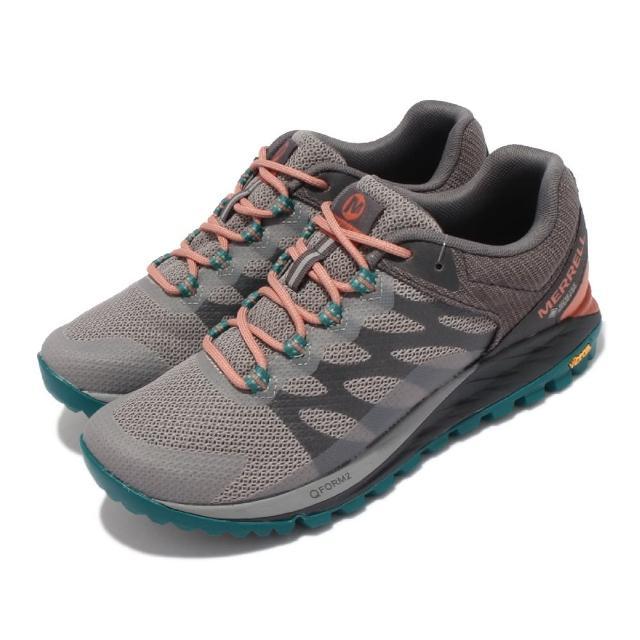 【MERRELL】戶外鞋 Antora 2 GTX 防潑水 女鞋 登山 越野 耐磨 黃金大底 穩定 支撐 灰 綠(ML066942)