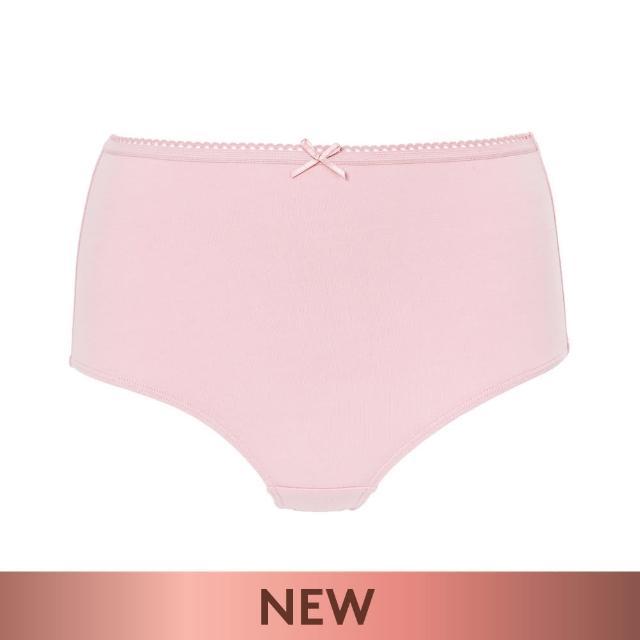 Triumph 黛安芬【Triumph 黛安芬】單品褲系列 棉感包臀高腰三角內褲 M-EL(粉紅色)