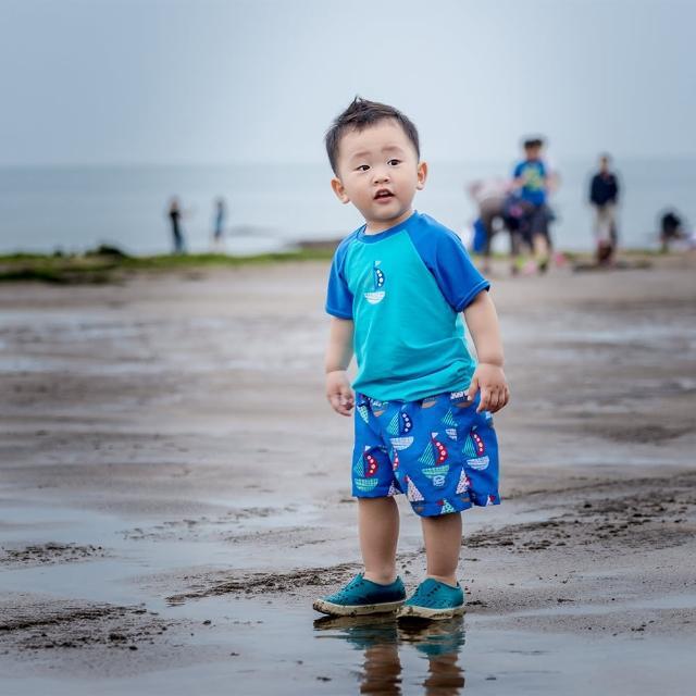 【Splash About 潑寶】嬰兒 尿布褲 抗UV 防曬-普普風帆船(泳褲)