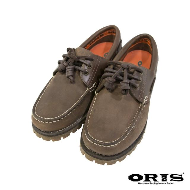 【oris 帆船鞋】流行素色帆船鞋-瘋馬綠/女-734C06(真皮/手工/帆船鞋)