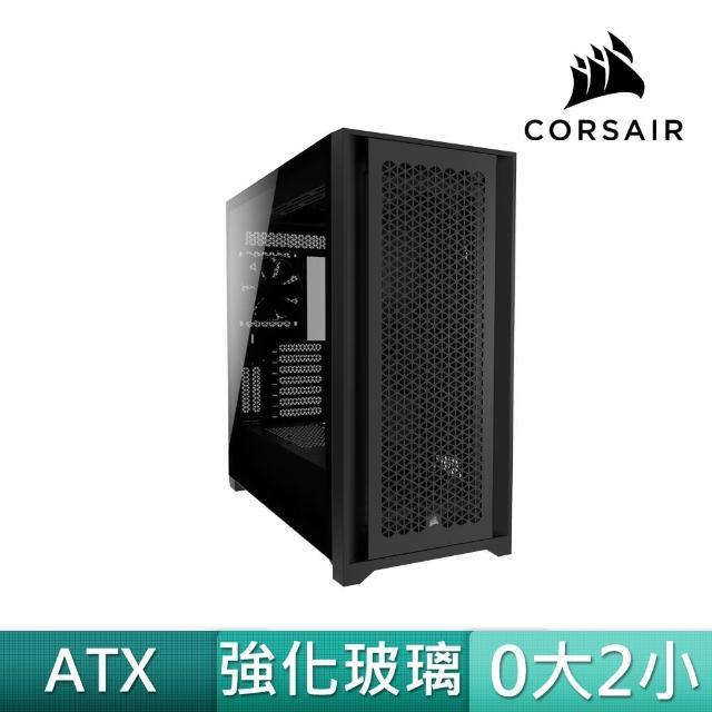 【CORSAIR 海盜船】5000D AIRFLOW 黑玻璃