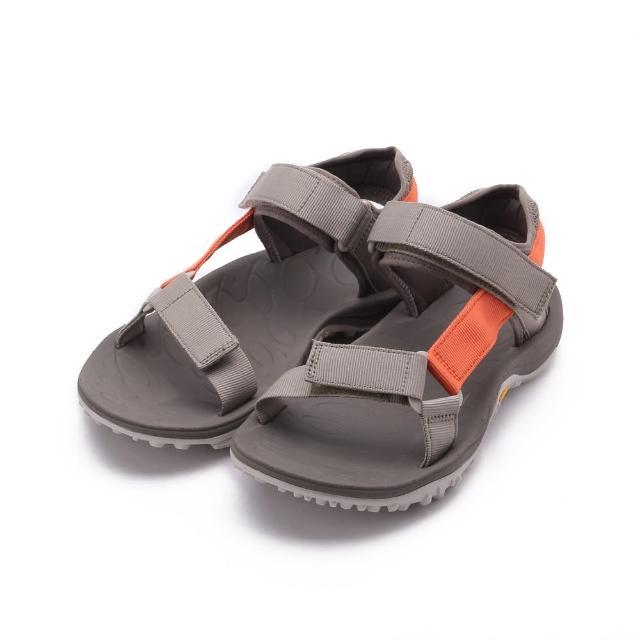 【MERRELL】KAHUNA WEB 織帶涼鞋 灰/亮橘 男鞋 ML002585