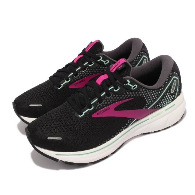 【BROOKS】慢跑鞋 Ghost 14 D 寬楦 女鞋 避震 穩定 慢跑 流暢 柔軟 舒適 黑 紫(1203561D013)