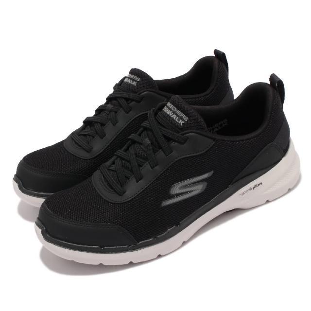 【SKECHERS】休閒鞋 Go Walk 6 機能 健走鞋 男鞋 輕量 穩定 支撐 避震 緩衝 回彈 黑 白(216204-BLK)
