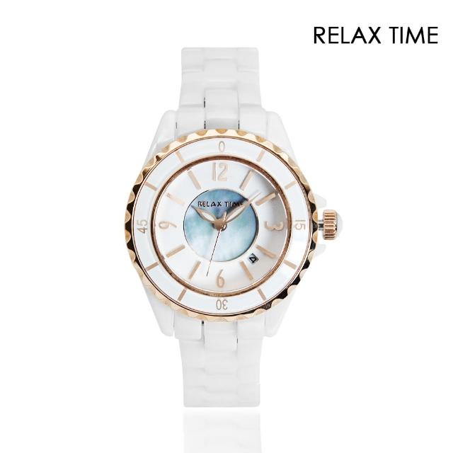 【Relax Time】經典陶瓷系列 白色款 玫瑰金刻度(RT-93-10)