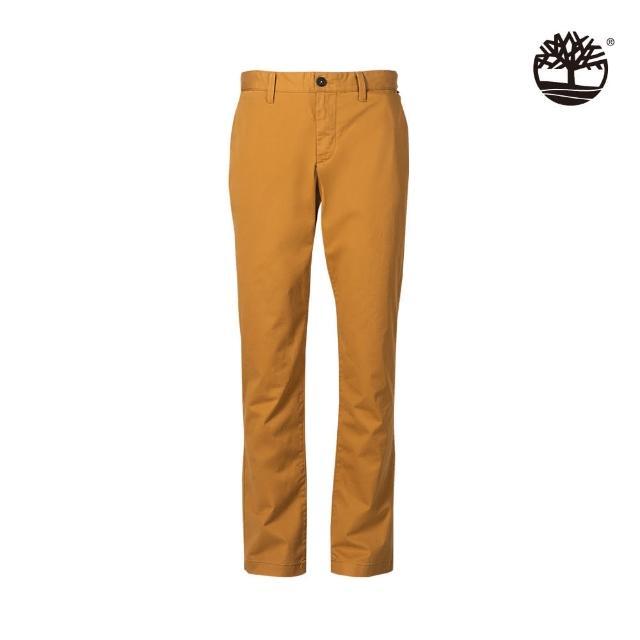 Timberland【Timberland】男款小麥黃Squam Lake彈力直筒褲(A29PFP47)
