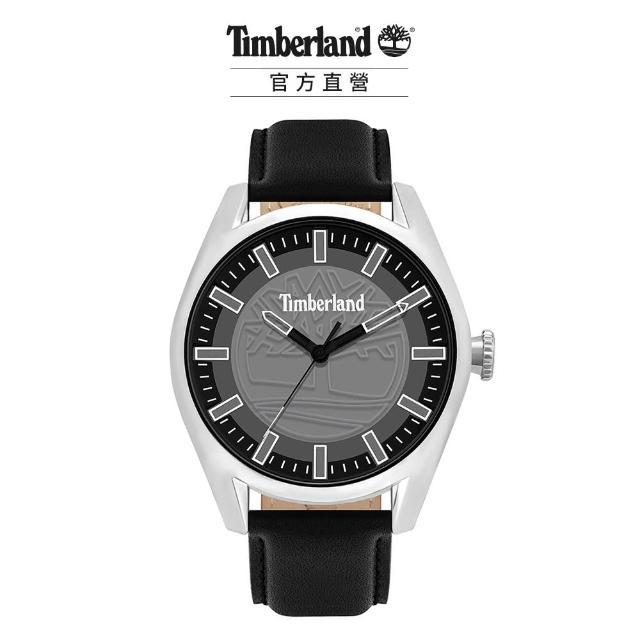 【Timberland】男款 ASHFIELD系列 街頭潮流腕錶 皮帶-深灰/黑46mm(TBL.16005JYS/13)