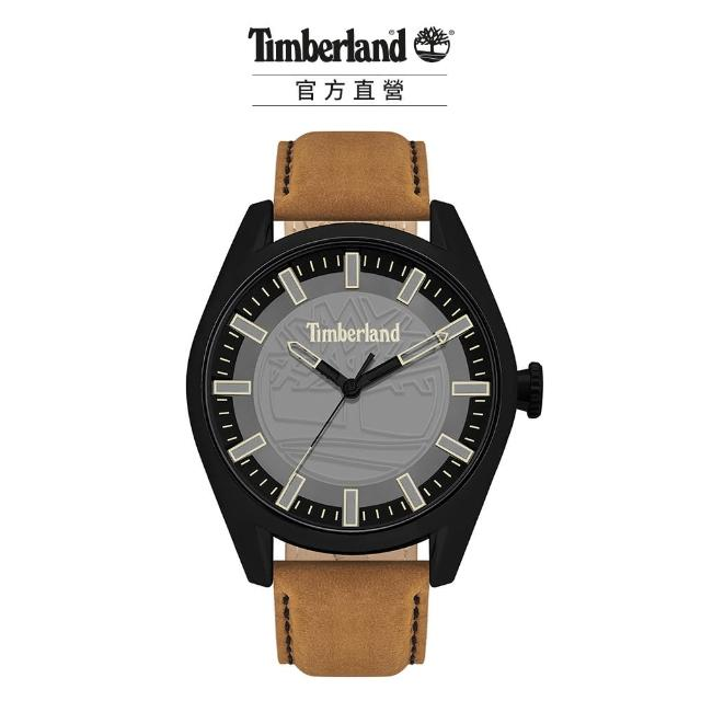 【Timberland】男款 ASHFIELD系列 街頭潮流腕錶 皮帶-深灰/棕46mm(TBL.16005JYB/13)