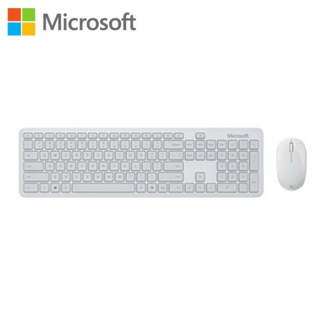 【Microsoft 微軟】精巧藍牙鍵鼠組_月光灰(QHG-00048)