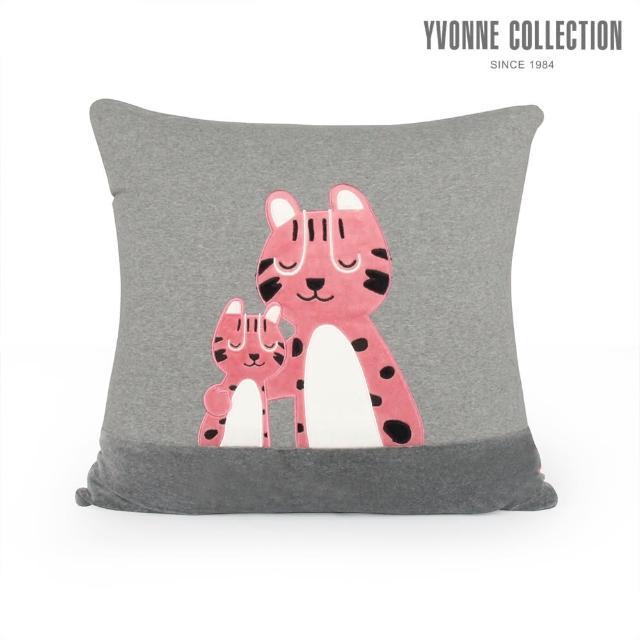 【Yvonne Collection】親子石虎方形抱枕(岩石灰)