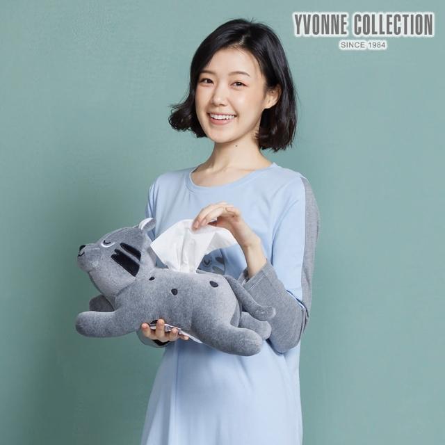 【Yvonne Collection】石虎造型衛生紙套(岩石灰)