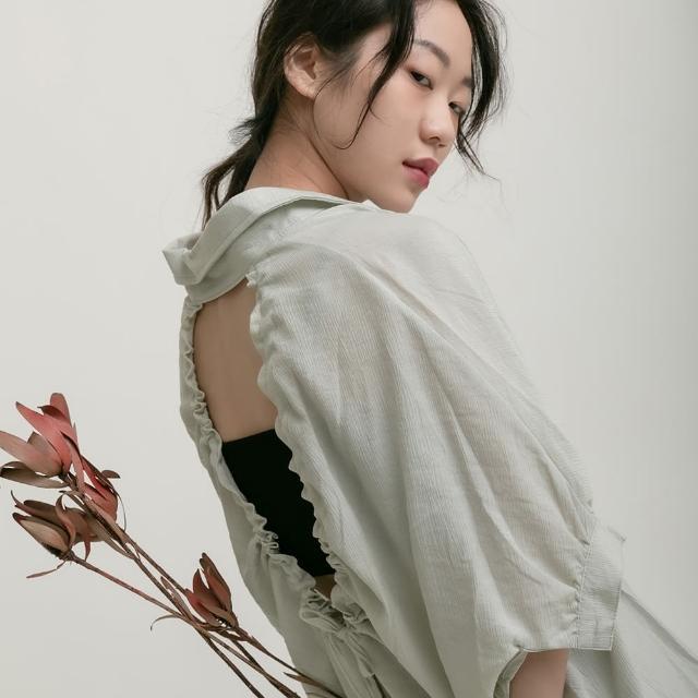 【THE LADYWORE】前短後長極簡襯衫(三色 1206097204)