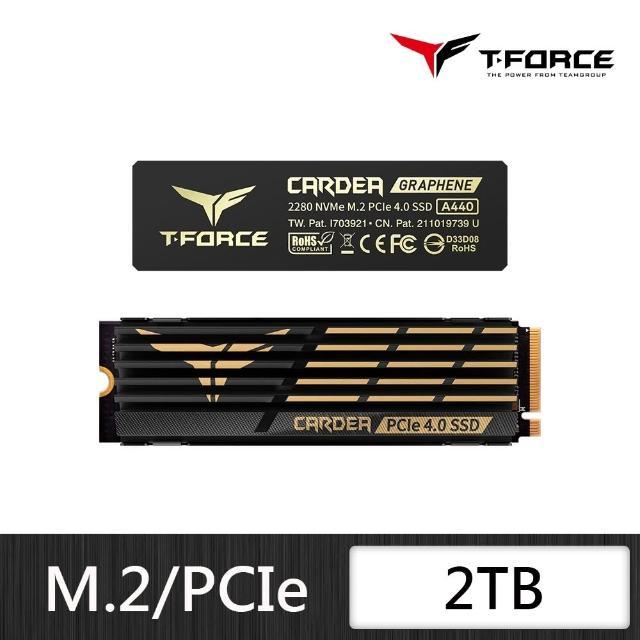 【Team 十銓】T-FORCE CARDEA Zero A440 2TB M.2 PCIe SSD 固態硬碟