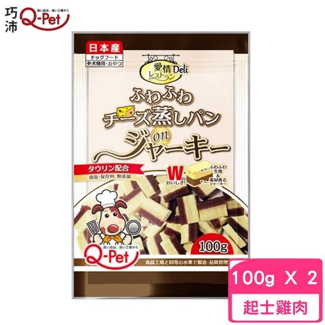【Q-PET】日本巧沛 - 愛情起士麵包雞肉短條 100g〈犬零食〉(2入組)