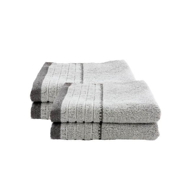【台灣興隆毛巾】炭極簡奈米銀竹炭毛巾 6入單色(毛巾)