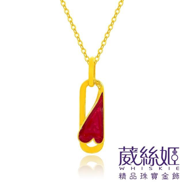 【葳絲姬金飾】9999純黃金項鍊 迴紋針-0.83錢±3厘