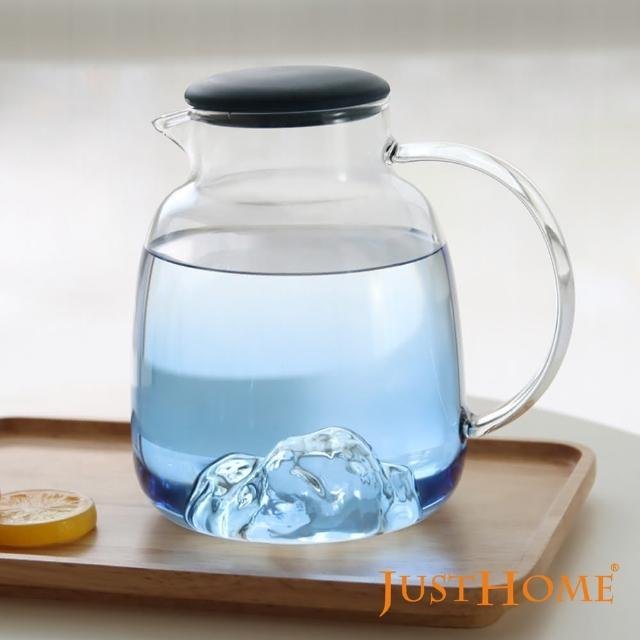【Just Home】Just Home悠藍自然山形耐熱玻璃壺1700ml(玻璃壺、耐熱玻璃)