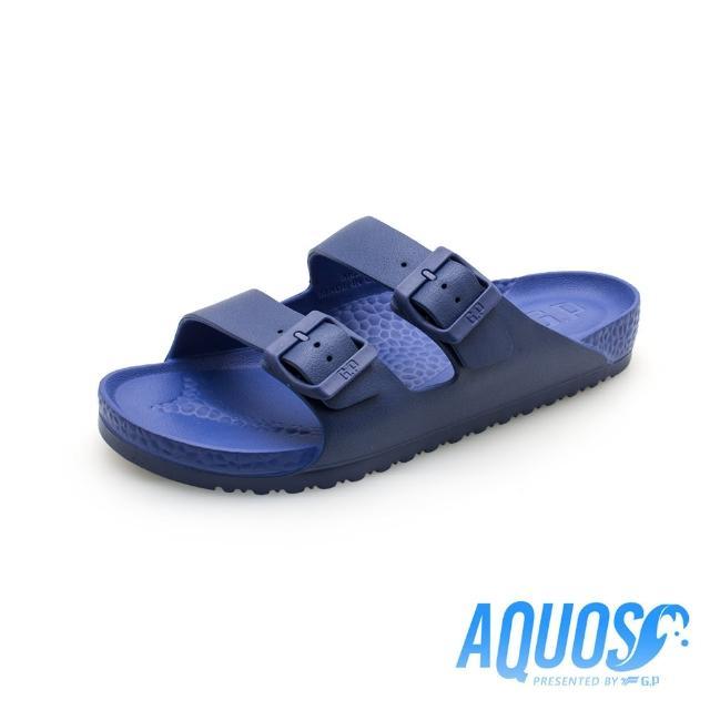 【G.P】AQUOS雙硬度柏肯防水拖鞋A5115-藍色(SIZE:40-44 共七色)
