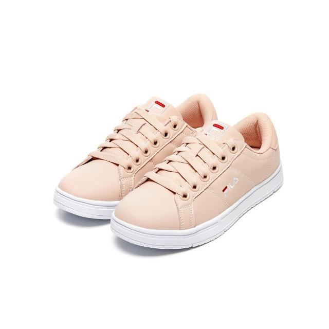 【FILA】女鞋 休閒鞋 女綁帶板鞋運動鞋-粉(5-C617V-511)