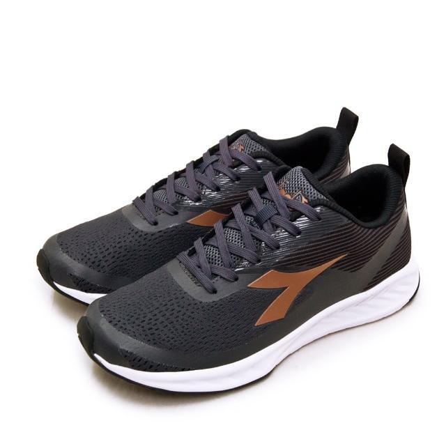 【DIADORA】男 迪亞多那 專業輕量寬楦避震慢跑鞋 極限飆速系列(灰黑金 73119)