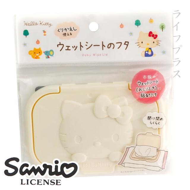 【HELLO KITTY】黏貼式濕紙巾保存蓋-3入組
