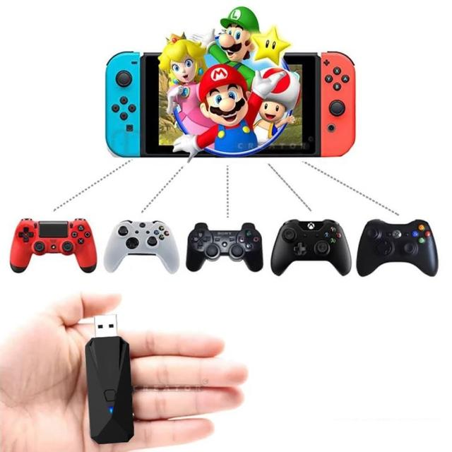 【Nintendo 任天堂】Switch副廠手把轉接 轉換器 支援PS3/PS4/XBOX ONE遊戲手把(Switch副廠手把轉換器)
