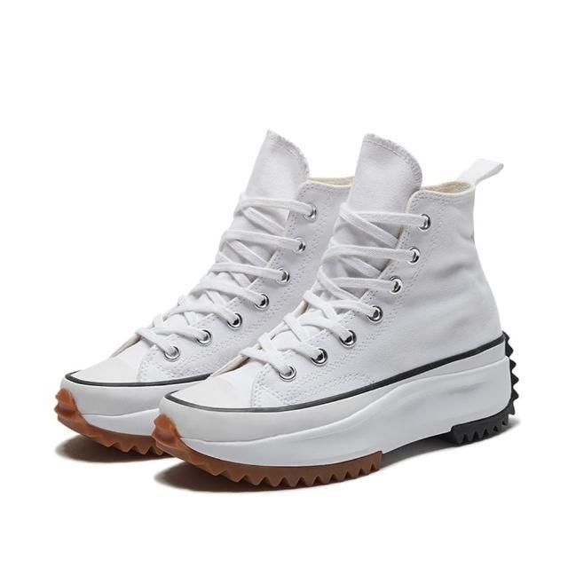 【CONVERSE】休閒鞋 男女鞋 帆布鞋 高筒 厚底 RUN STAR HIKE HI 白 166799C
