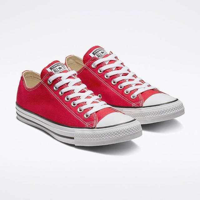 【CONVERSE】休閒鞋 男女鞋 帆布鞋 ALL STAR OX 紅 M9696C