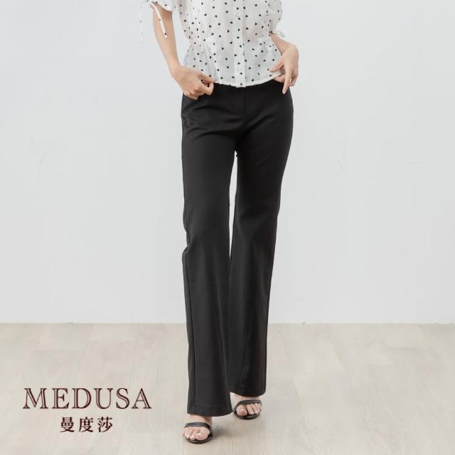 【MEDUSA 曼度莎】斜切彈性喇叭褲(M-XL)|舒適高彈性布料|上班族穿搭 職場穿搭(601-93702)