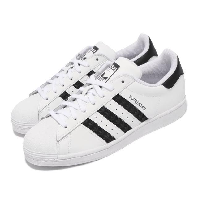 【adidas 愛迪達】休閒鞋 Superstar 運動 男女鞋 愛迪達 經典款 貝殼頭 情侶穿搭 球鞋 白 黑(H68101)
