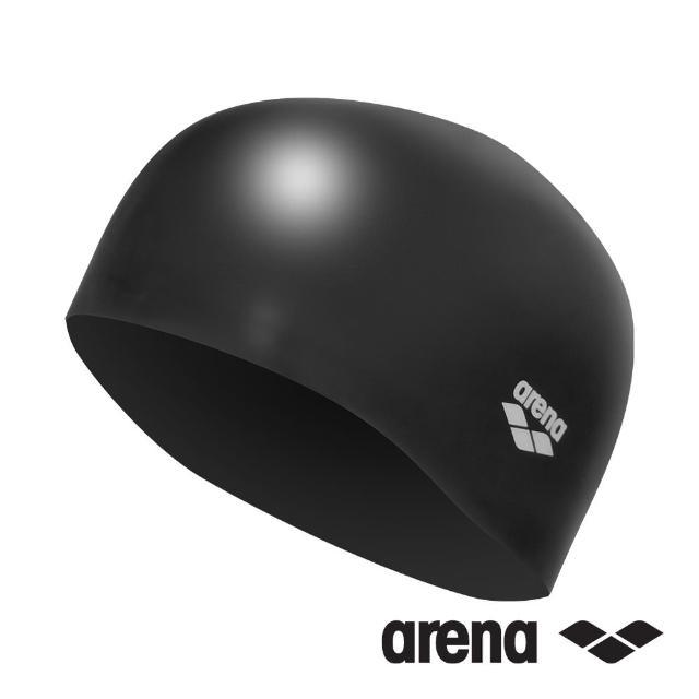 【arena】泳帽 防水 Silicone AMS-8600 BLK(長髮適用)