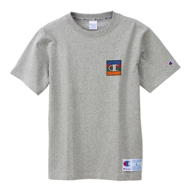 【Champion】日本限定-Action Style灰色小LOGO短袖上衣NO.C3-Q302-070