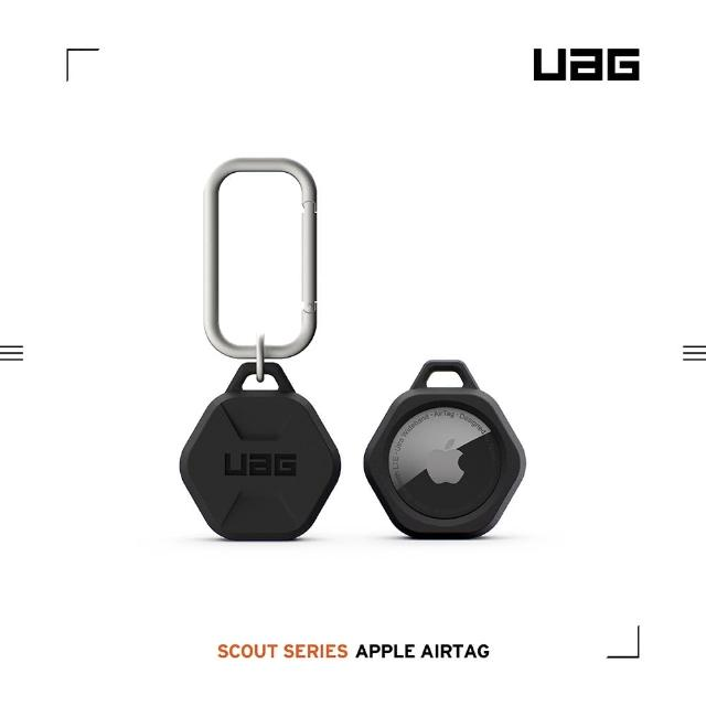 【UAG】AirTag 矽膠扣環保護套-黑(UAG、AirTag)