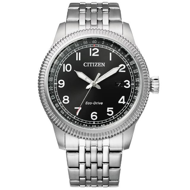 【CITIZEN 星辰】GENTS光動能男士鋼帶錶42.5mm(BM7480-81E)