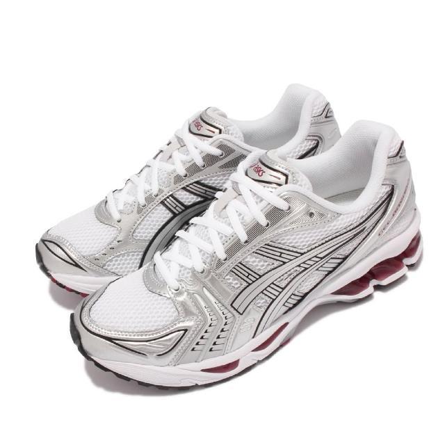 【asics 亞瑟士】慢跑鞋 GEL-Kayano 14 復古 男女鞋 亞瑟士 致敬系列 緩衝 亞瑟膠 穿搭 白 銀(1201A019104)