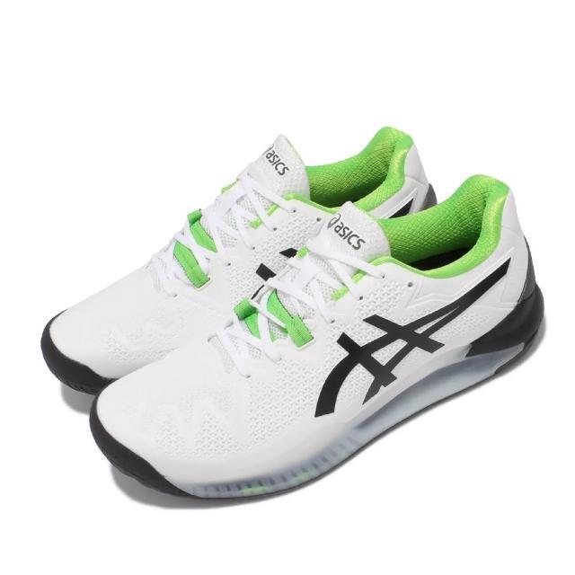 【asics 亞瑟士】網球鞋 Gel-Resolution 8 2E 男鞋 亞瑟士 寬楦 超耐磨 緩衝 亞瑟膠 白 黑(1041A113105)