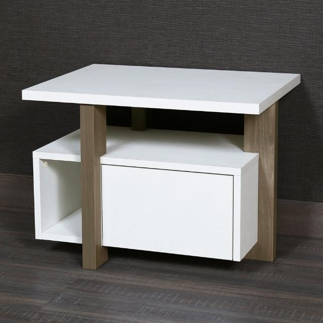 【Arkhouse】造型設計單抽床頭櫃/小茶几/邊櫃W60*H45*D35