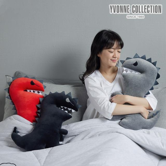 【Yvonne Collection】恐龍哥抱枕(岩石灰)