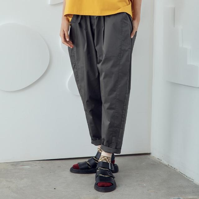 【MOSS CLUB】活動綁帶蘿蔔褲-女長褲 綁帶 綠 卡(二色/魅力商品/版型合身)