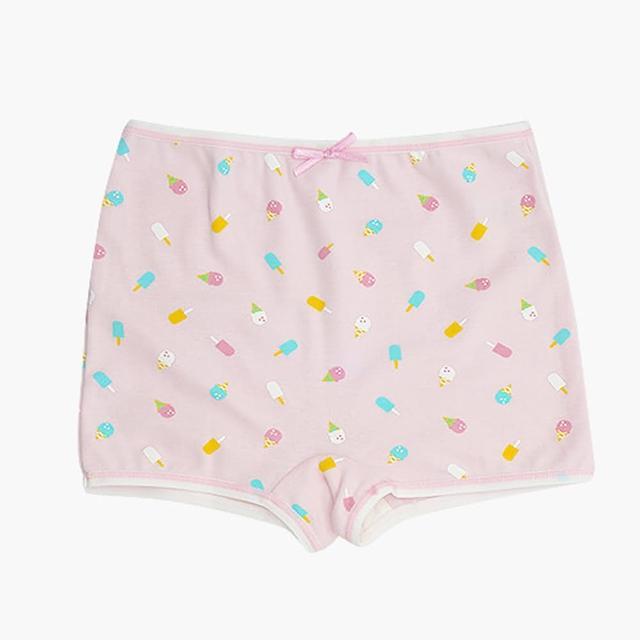 【annypepe】女童純棉冰淇淋四角褲-粉紅160