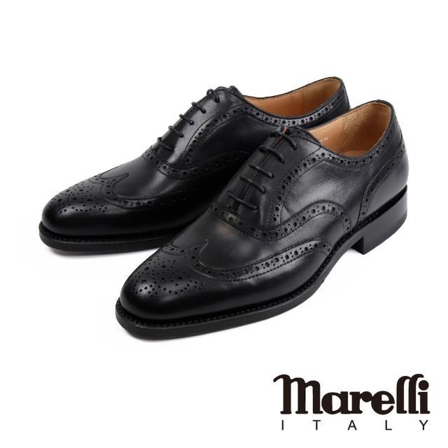 【Marelli】雅痞質感雕花翼紋牛津鞋 黑色(SN9207-1-BL)