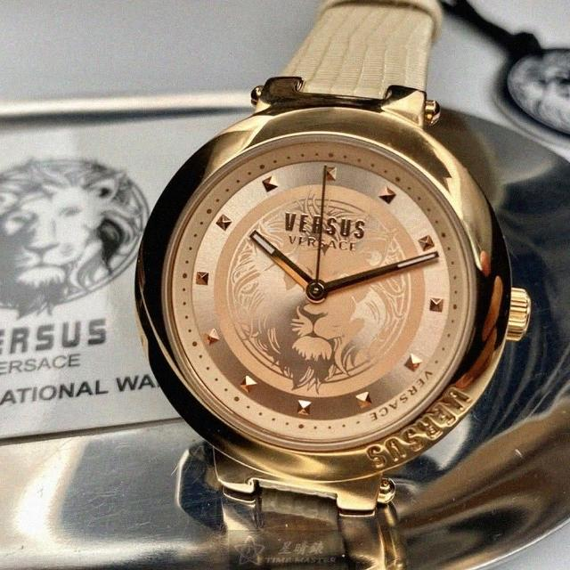 【VERSUS】VERSUS凡賽斯女錶型號VV00317(玫瑰金色錶面玫瑰金錶殼米黃色真皮皮革錶帶款)