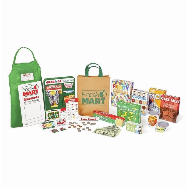 【Melissa & Doug 瑪莉莎】超市購物配件組(購物結帳雙重樂趣)