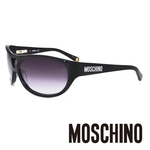 【MOSCHINO】義大利 愛心大框 側LOGO太陽眼鏡(黑-MO54801)