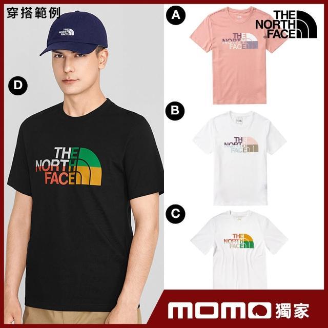 【The North Face】MOMO品牌狂推-男女款夏季繽紛造型印花短袖T(多款任選)