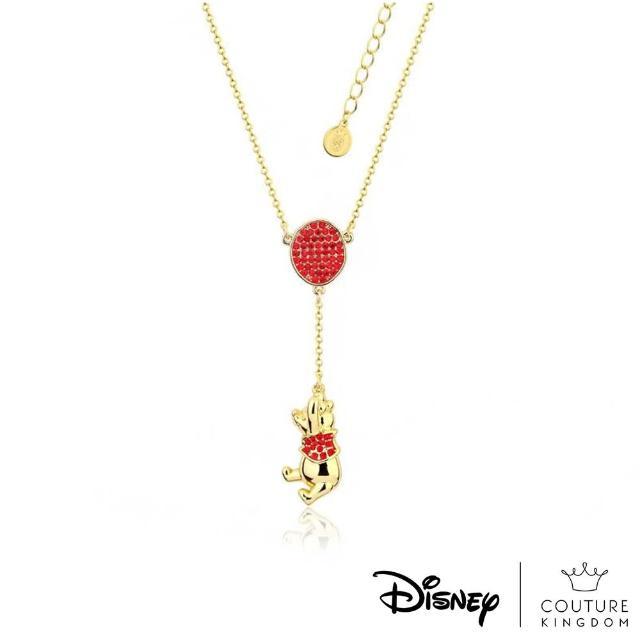 【Disney Jewellery】迪士尼 Couture Kingdom 95週年小熊維尼紀念款水晶氣球鍍14K金項鍊