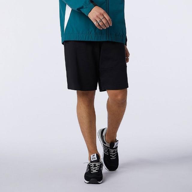 【NEW BALANCE】短褲 男款 運動短褲 健身 慢跑 黑 AMS13502BK