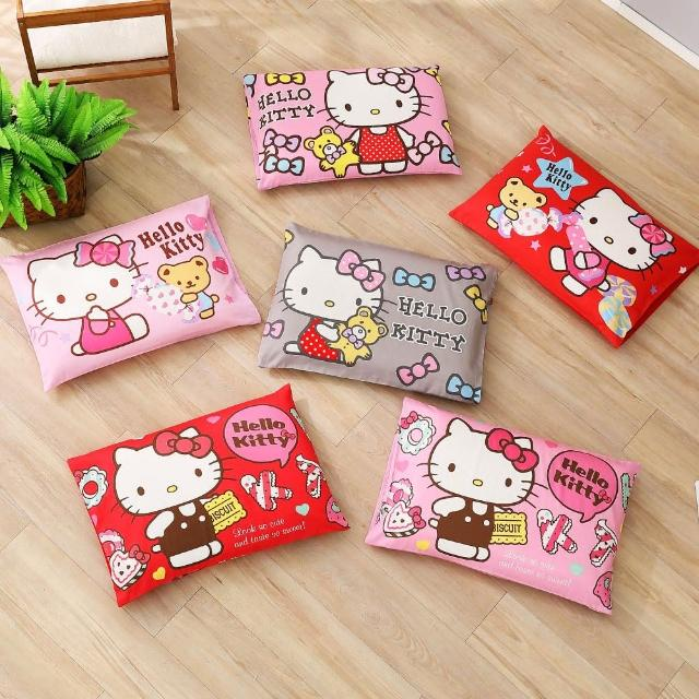 【HongYew 鴻宇】兒童乳膠枕 日本防蹣抗菌 Hello Kitty 美國棉(多款任選2入)