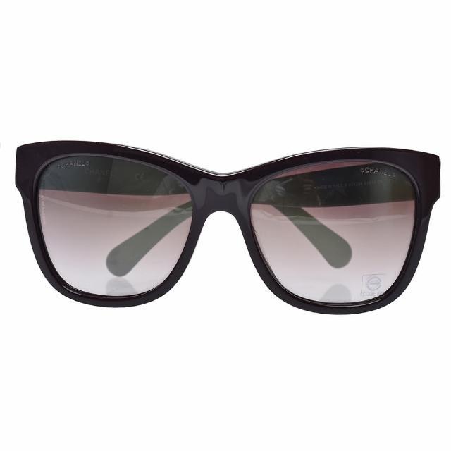 【CHANEL 香奈兒】經典膠框太陽眼鏡(深紫色71233-PURRLE)